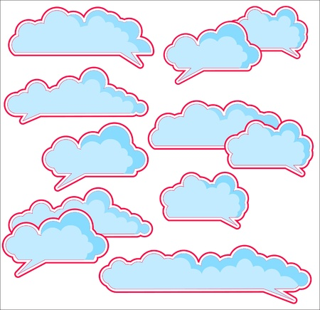 clouds chat frames Vector