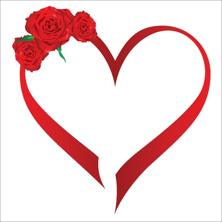 red rose petals: Valentine s day heart