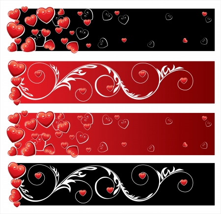 honeymoon: Valentine s day banners