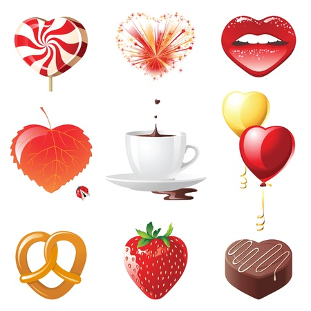 candy hearts: Set of 9 concept hearts