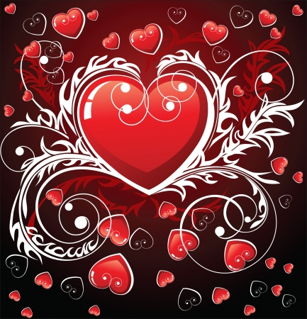 Valentine s day background Stock Vector - 14270546