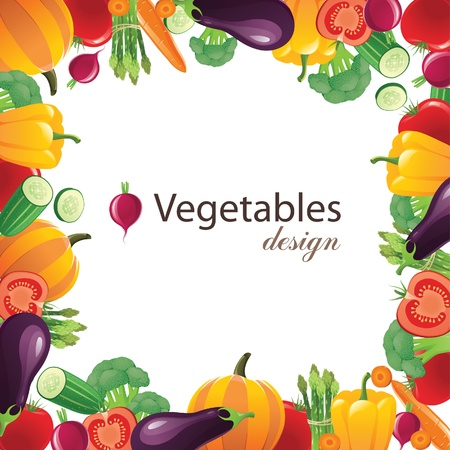 vegetables frame for your designs  Stock Vector - 13876393