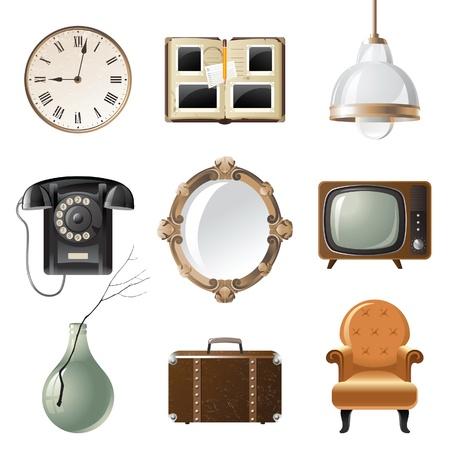 retro - estilo de origen relacionadas con los objetos