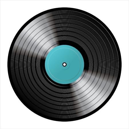 disc: realistic vinyl Illustration