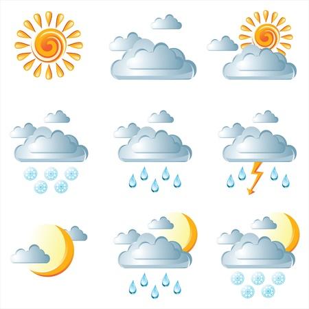 wheather: wheather icons Illustration