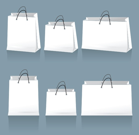 carrying out: white bags