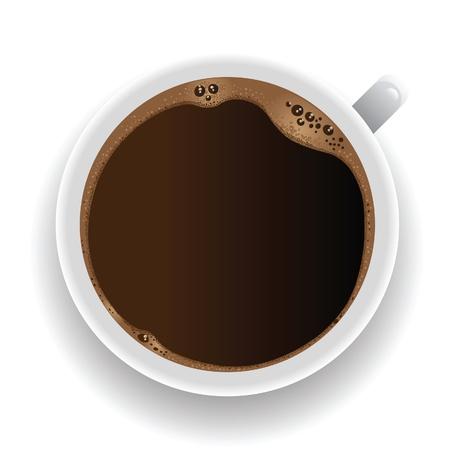 taza de café - vista desde arriba