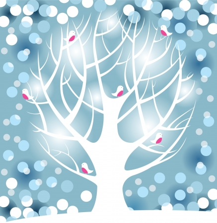 winter tree Stock Vector - 14270567
