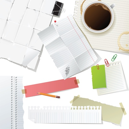 great office supplies and paper set Stock Vector - 13876377