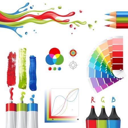 RGB de color los elementos de diseño del modo de