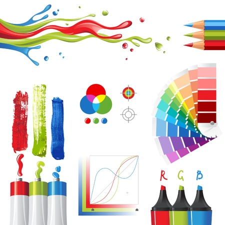 crayon de couleurs: RGB �l�ments de couleur en mode de conception Illustration