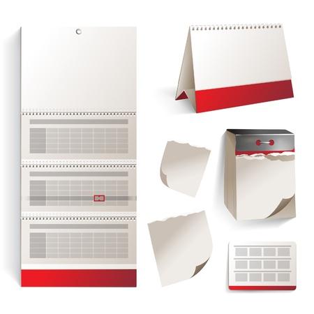 quarterly: Highly detailed calendar type icons Illustration