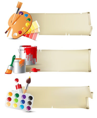craft supplies: Retro-styled banners with drawing tools