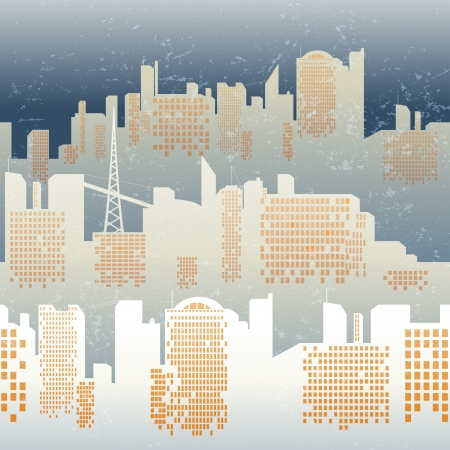 seamless background with city skyline Vector
