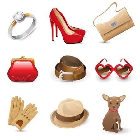 cintur�n de cuero: La moda femenina Vectores