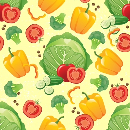 seamless vegetabless pattern Stock Vector - 16965979