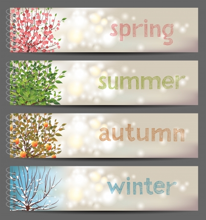 four season:  4 seasons horizontal banners
