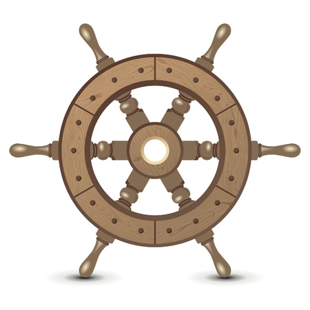seafaring: Highly detailed wooden sheep wheel