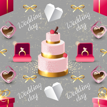 clipping mask: Wedding seamless pattern made with clipping mask
