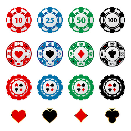 lasvegas: Great set of gambling chips for your designs!  Illustration