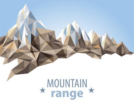 Rango de montaña en estilo origami Foto de archivo - 23654699