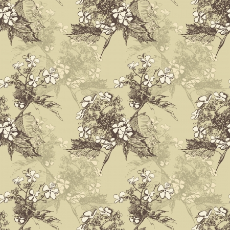 guelder: Guelder rose seamless in vintage style Illustration
