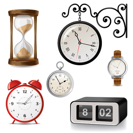 Different types of clocks Stock Vector - 24697471