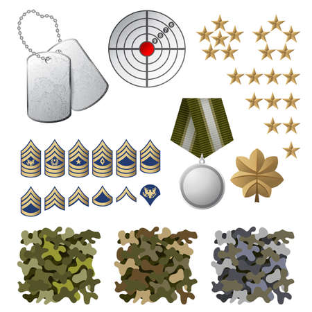 us military: Military icons and design elements