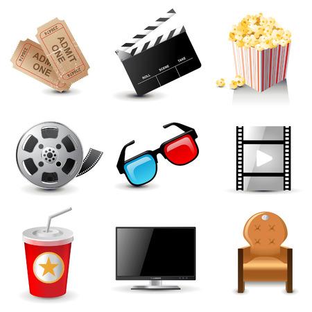 9 iconos del cine Foto de archivo - 25468899