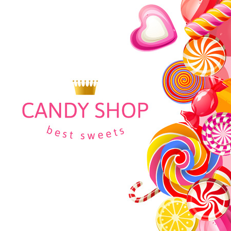 cane sugar: Bright background with candies