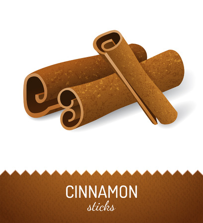 cinnamon sticks: Cinnamon sticks over white background