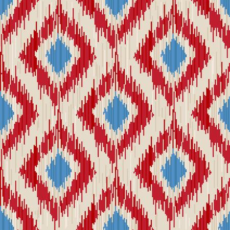 rhombus: traditional ikat seamless ornament