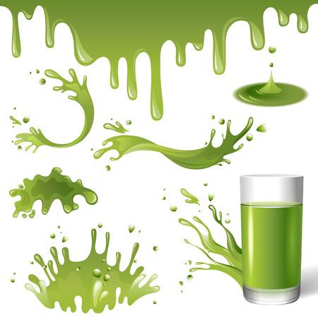 nonalcoholic: green juice splashes