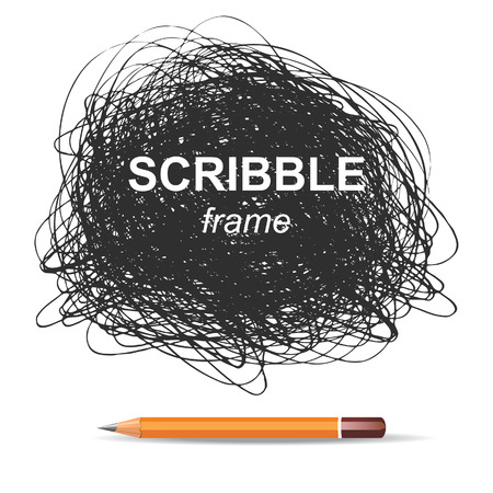 pencil set: scribble background