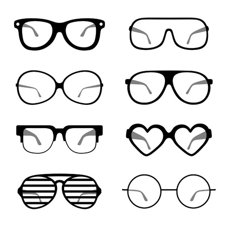 eyewear fashion: Black and white sunglasses icons