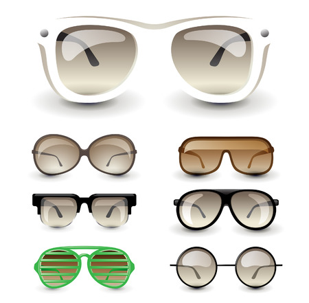 eyewear fashion: 7 highly detailed glasses icons