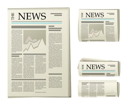 4 krant iconen op een witte achtergrond