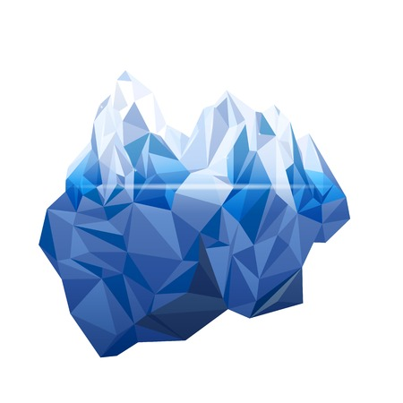 Iceberg in low poly style Illustration