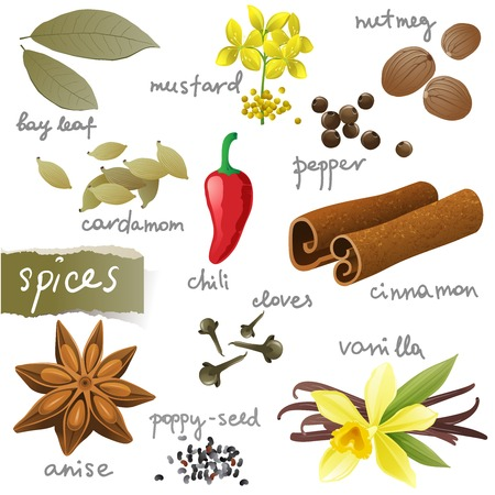 nutmeg: Great set of different spices