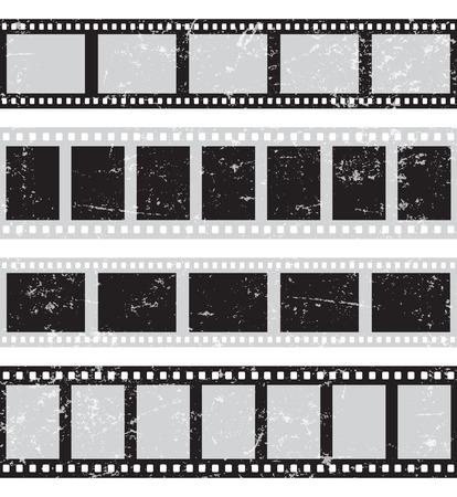 Film reel - horizontal retro seamless Çizim