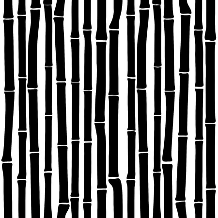 シームレスな竹パターン ower 白背景  イラスト・ベクター素材
