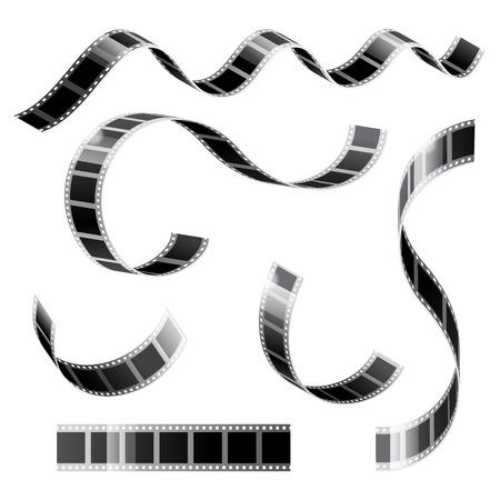 Film reel over white background Vector