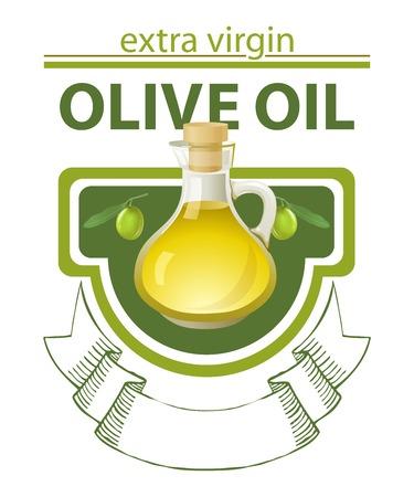 aceite de oliva virgen extra: Virgen extra aceite de oliva signo con el lugar para su texto