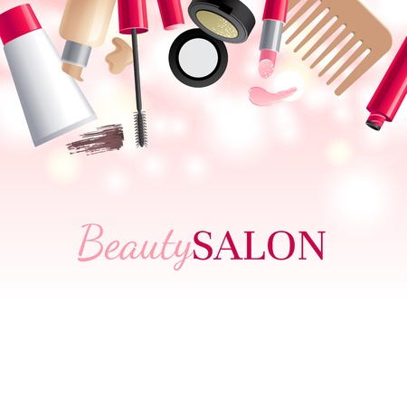 Glamorous make-up background with place for your text