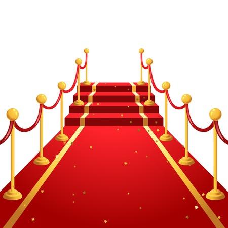 semaforo en rojo: En el fondo de la alfombra roja