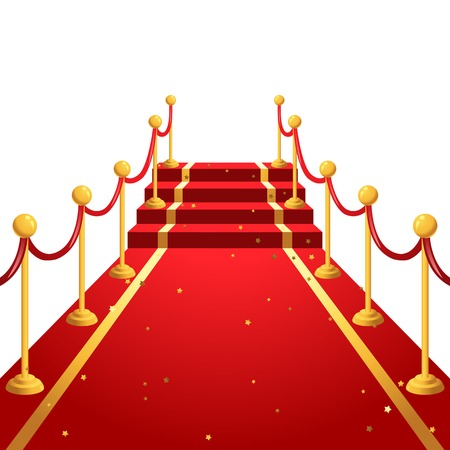 red light: On the red carpet  background Illustration
