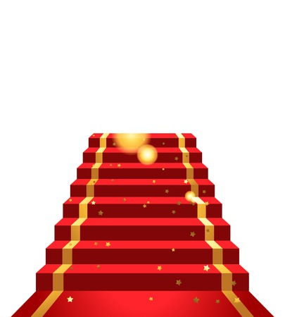 On the red carpet  background Vector