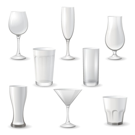facer: Empty drinking glass icon set