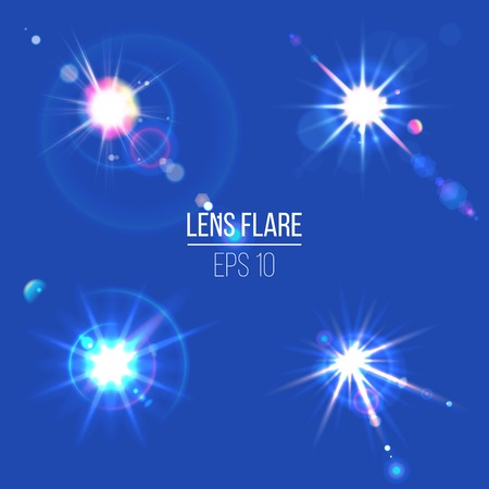 4 lens flare icons for your designs