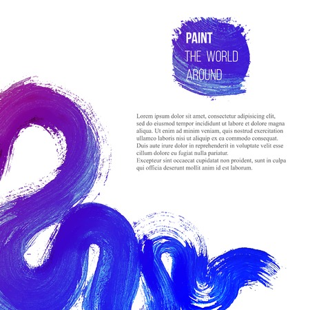 brush stroke: Abstract  background with brush stroke Illustration